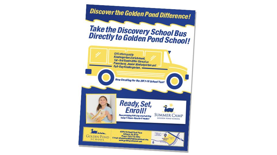 Golden Pond School Flyer